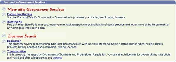 ... the state of Florida with more than 100.000 pages dedicated to FL